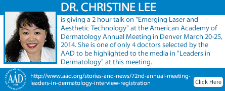 Dr. Lee Featured in California Skin and Melanoma Center Banner