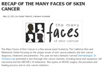 Recap of the many faces of skin cancer