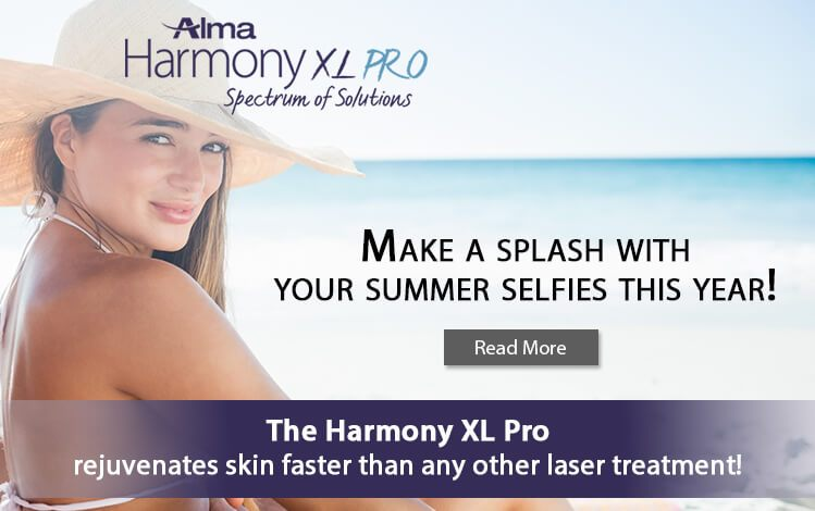 The Harmony XL Pro rejuvenates skin faster than any other laser treatment!